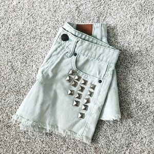 Urban Outfitters DREE Studded High Rise Shorts